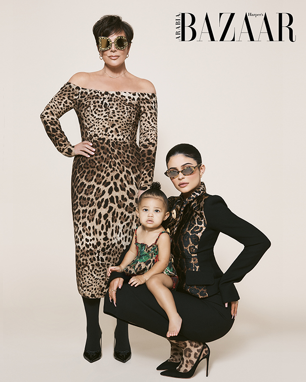 Stormi Webster, Kylie & Kris Jenner cover Harper's Bazaar Arabia