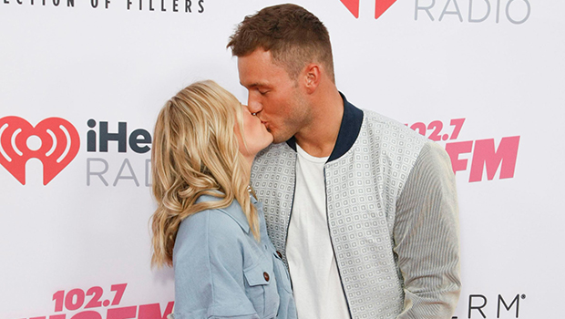 Cassie Randolph & Colton Underwood kissing on the red carpet