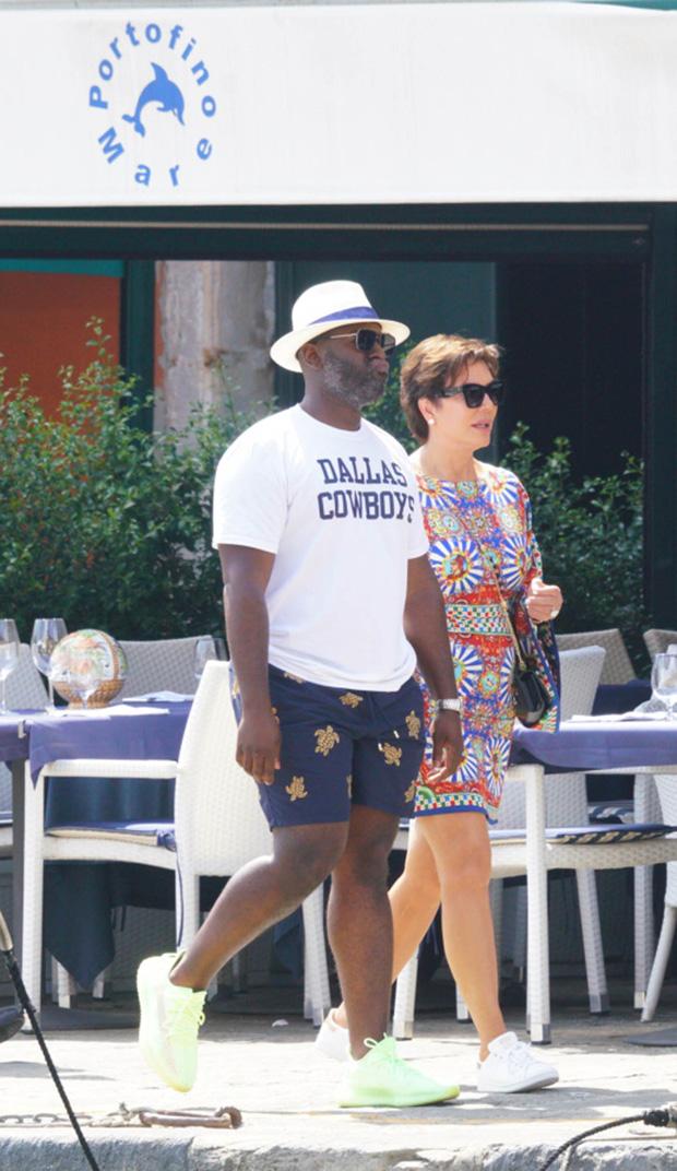 Corey Gamble & Kris Jenner in Italy
