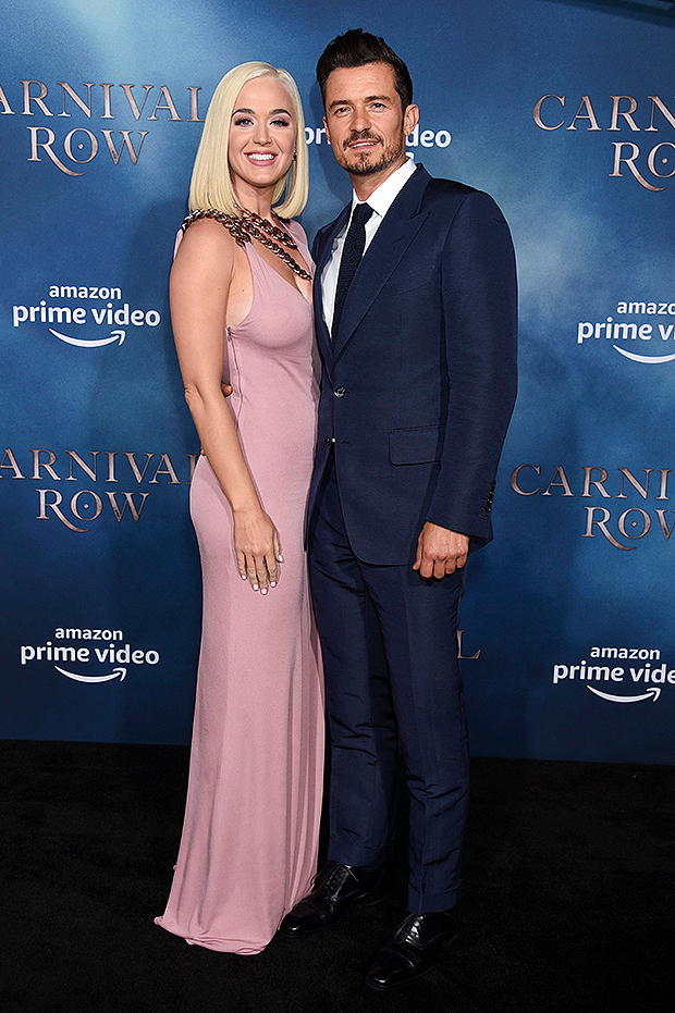 Katy Perry & Orlando Bloom at 'Carnival Row' premiere