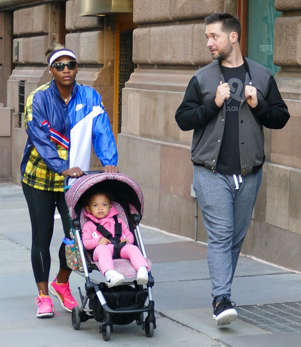 Serena Williams, husband Alexis Ohanian and daughter Olympia Ohanian