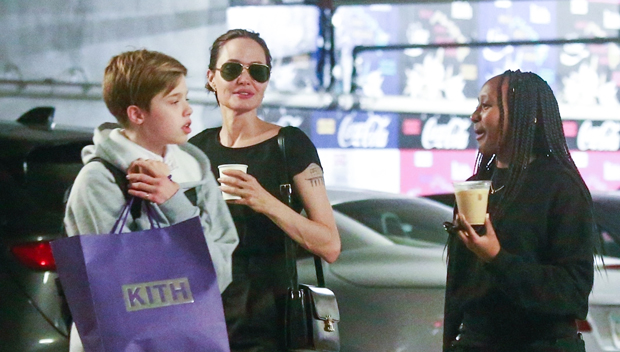 Angelina Jolie and daughters Shiloh and Zahara