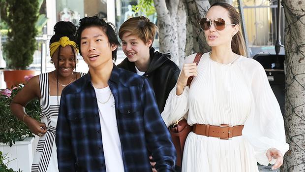 Angelina Jolie & kids on Labor Day 2019