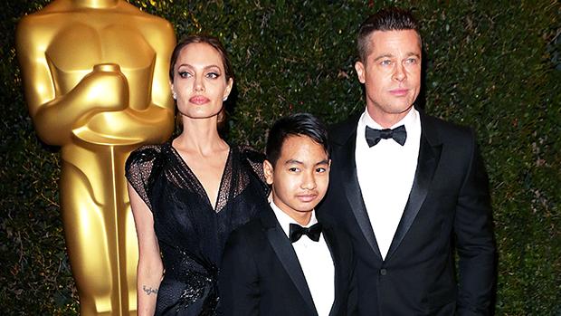 Brad Pitt, Angelina Jolie & Maddox Jolie-Pitt