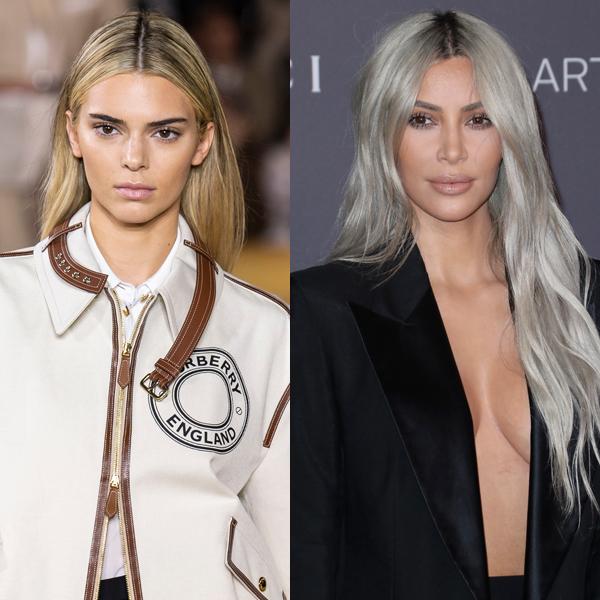 Kendall Jenner & Kim Kardashian blonde