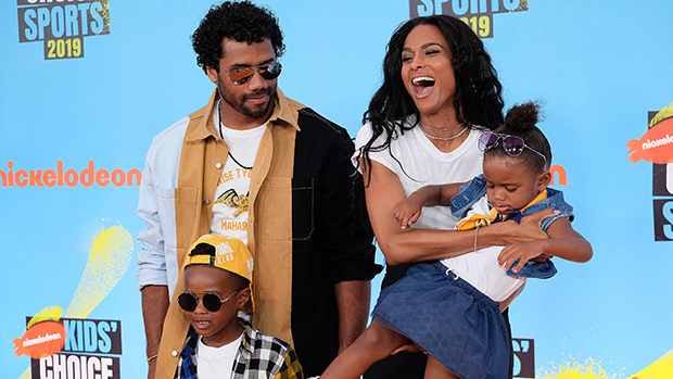 Ciara & Russell Wilson with their kids