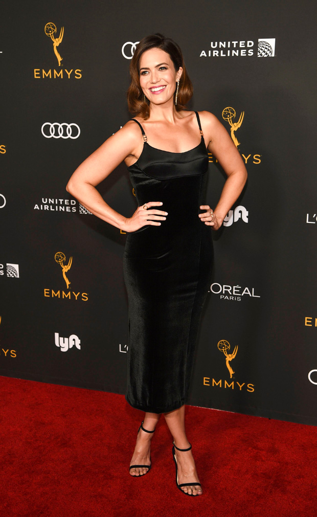 Mandy Moore poses at the Performers Nominee Reception for Sunday's 71st Primetime Emmy Awards, in Beverly Hills, Calif2019 Primetime Emmy Awards - Performers Nominee Reception, Beverly Hills, USA - 20 Sep 2019