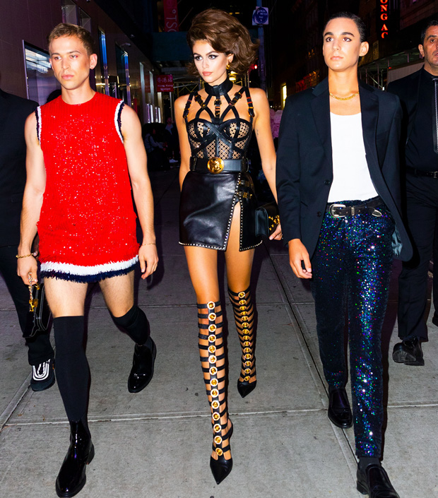 Kaia Gerber dresses like a sexy gladiator for her 18th birthday party in New YorkPictured: Ref: SPL5113681 060919 NON-EXCLUSIVE Picture by: Jackson Lee / SplashNews.com Splash News and Pictures Los Angeles: 310-821-2666 New York: 212-619-2666 London: 0207 644 7656 Milan: +39 02 56567623 photodesk@splashnews.com World Rights, No Portugal Rights