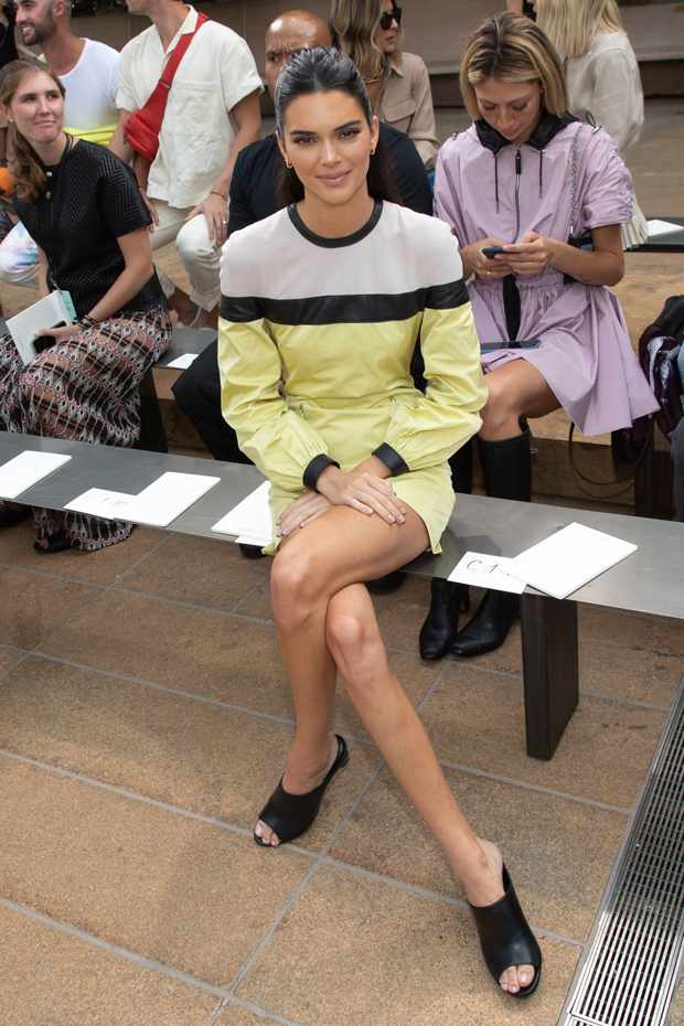 Kendall Jenner front row at Longchamp