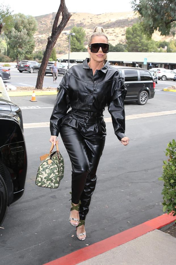 Khloe Kardashian in Leather