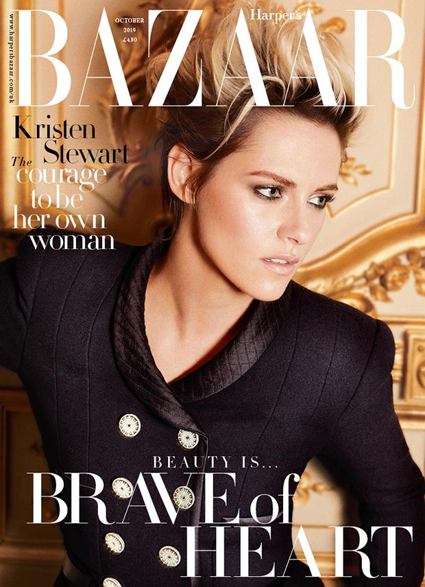 Kristen Stewart covers 'Harper's Bazaar' UK October 2019