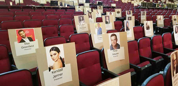 Kendall Jenner Emmys seat