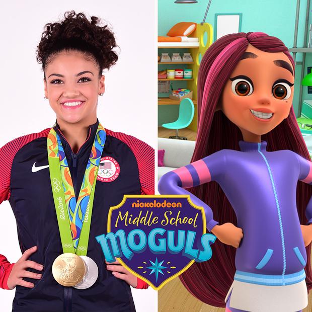 Laurie Hernandez in Nickelodeon's 'Middle School Moguls'