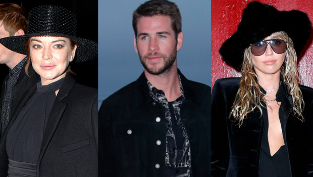 Lindsay Lohan, Liam Hemsworth & Miley Cyrus