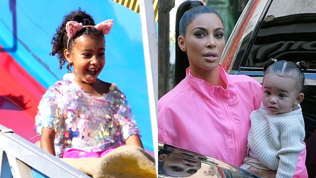 North West & Kim Kardashian