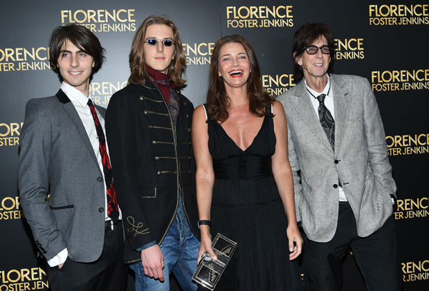 Ric Ocasek & Paulina Porizkova with kids