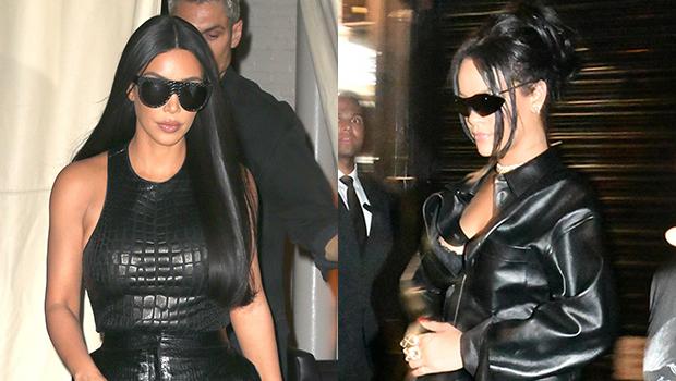 Rihanna & Kim Kardashian wearing leather