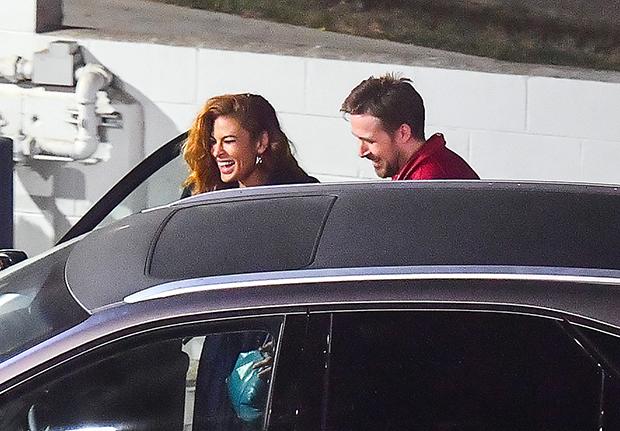 Ryan Gosling & Eva Mendes out to dinner
