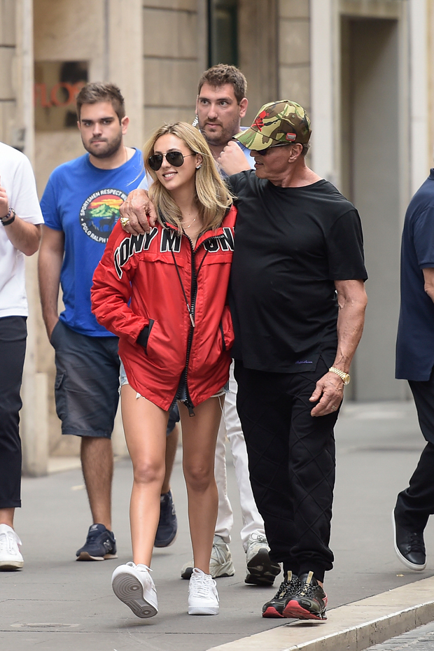 Sophia Stallone, Sylvester Stallone