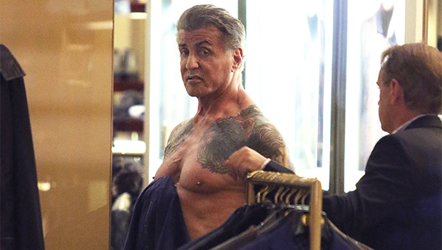 Sylvester Stallone Goes Shirtless To Show Off Ripped Chest