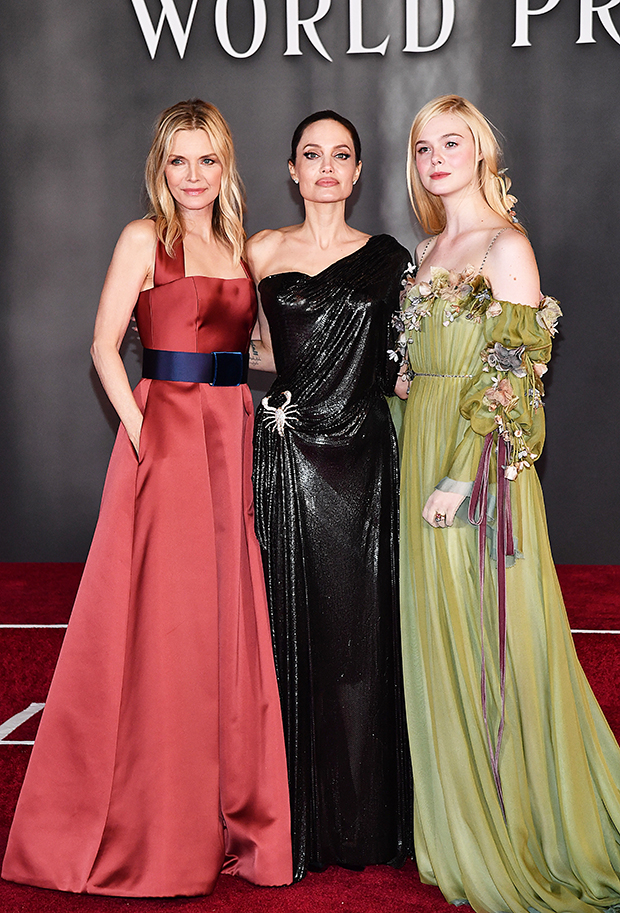 Michelle Pfeiffer, Angelina Jolie and Elle Fanning