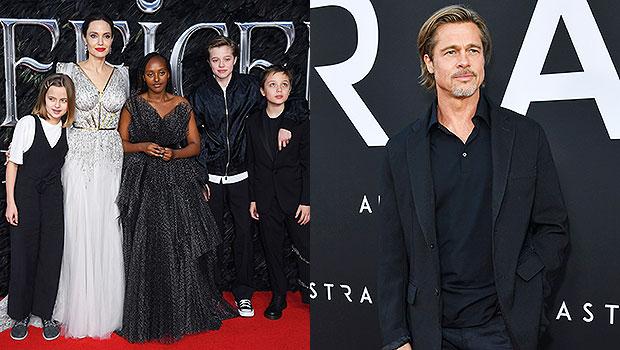 Angelina Jolie and her kids, Brad Pitt