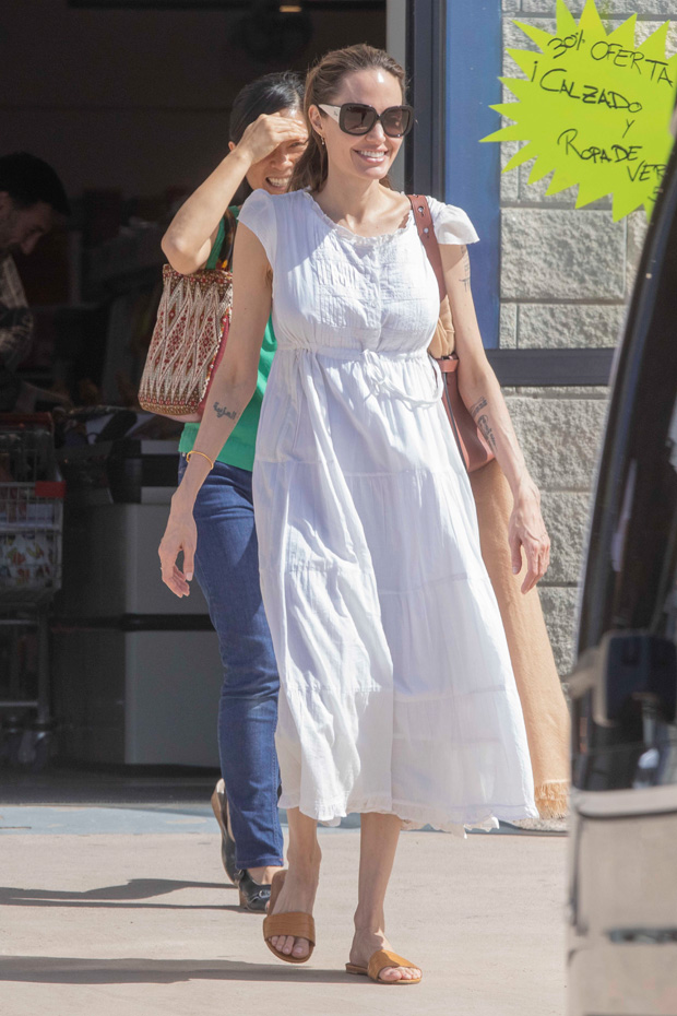 Angelina Jolie in white