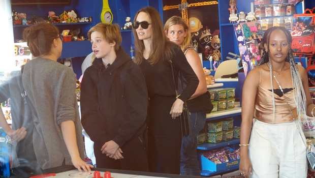 angelina jolie and kids in rome