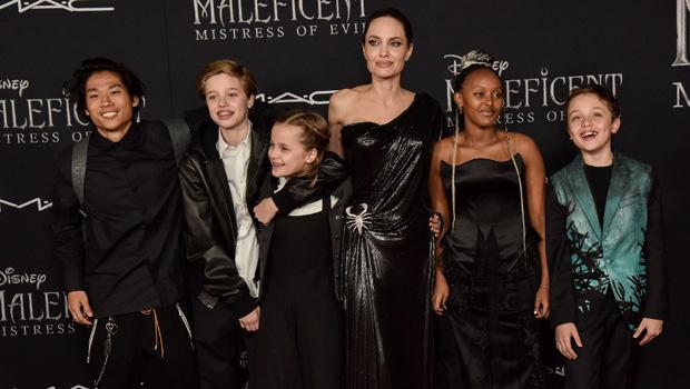 Angelina Jolie, Max Jolie-Pitt, Zahara Jolie-Pitt, Shiloh Jolie-Pitt, Knox Jolie-Pitt, Vivienne Jolie-Pitt