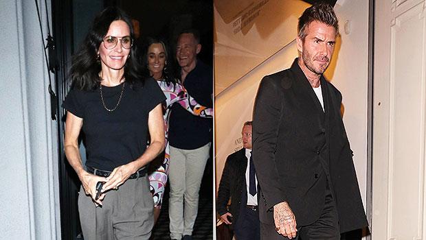Courteney Cox & David Beckham