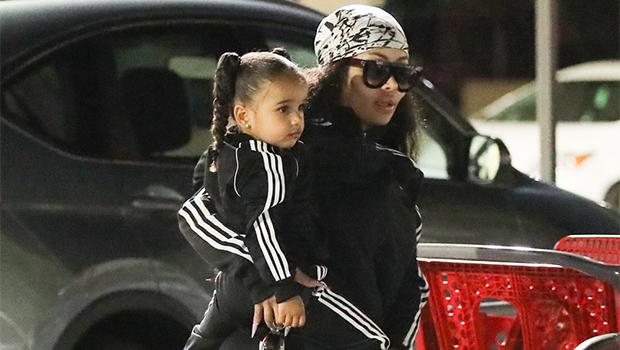 dream kardashian, blac chyna matching tracksuits