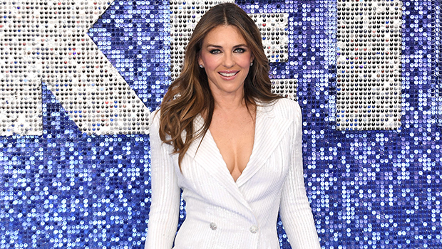 Elizabeth Hurley in white on the red carpet