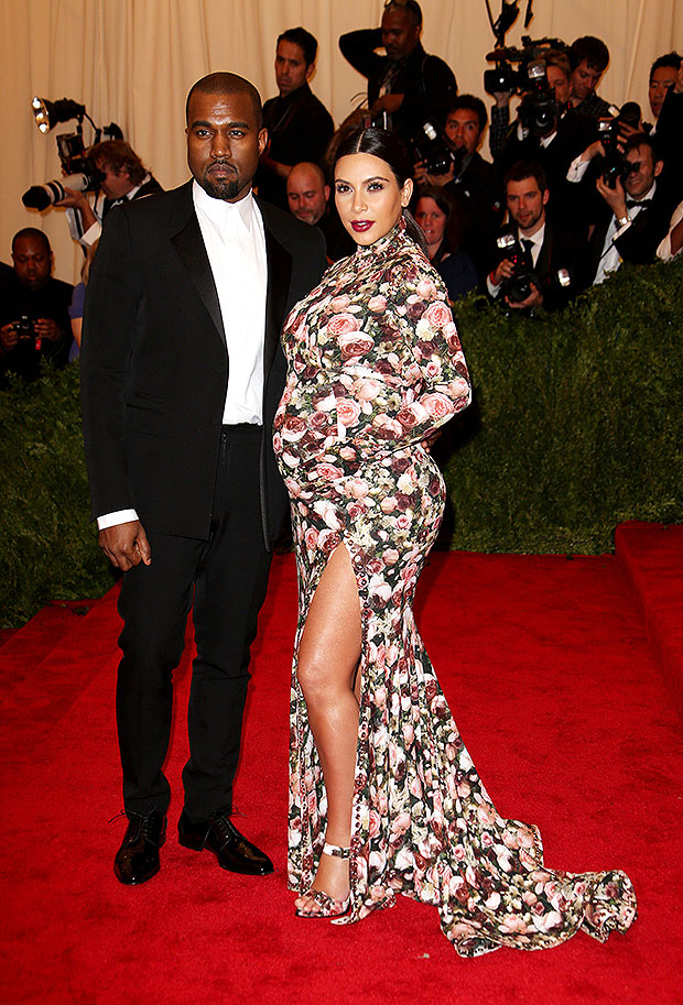 Kim Kardashian & Kanye West at the 2013 Met Gala