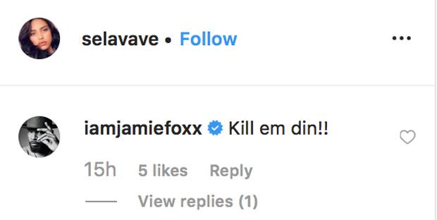 Jamie Foxx & Sela Vave