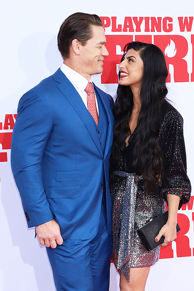 John Cena with new girlfriend at 'Playing With Fire' premiere