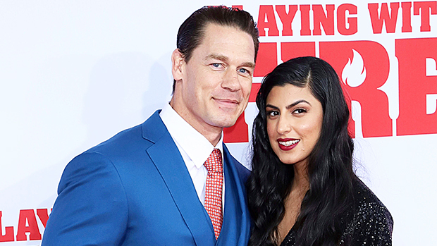 John Cena & girlfriend at the premiere of 'Playing With Fire'