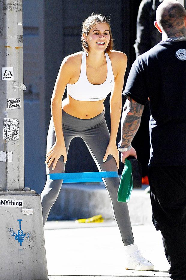 kaia gerber workout NYC
