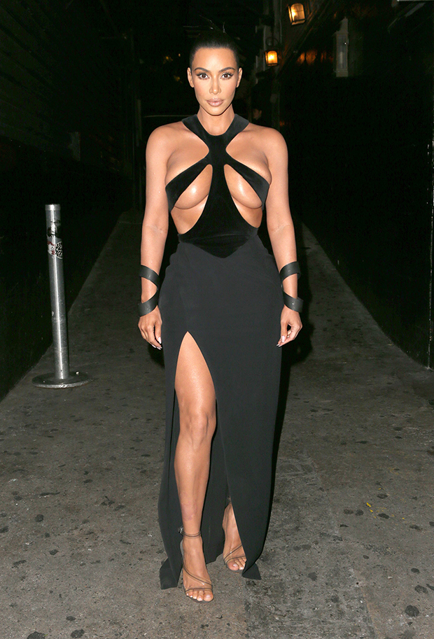 kim kardashian black cutout dress