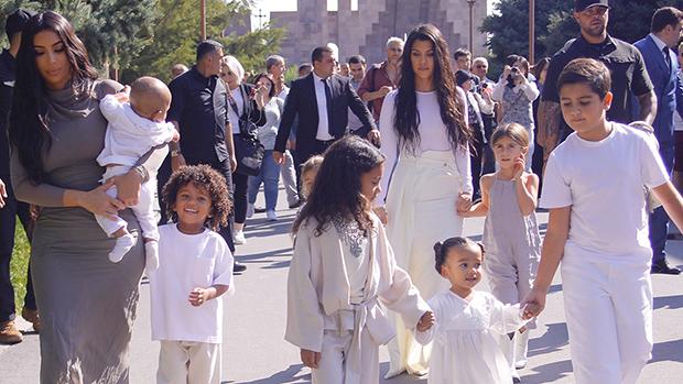 kim and kourteny kardashian with kids in armenia