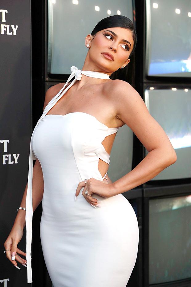kylie jenner white cutout dress
