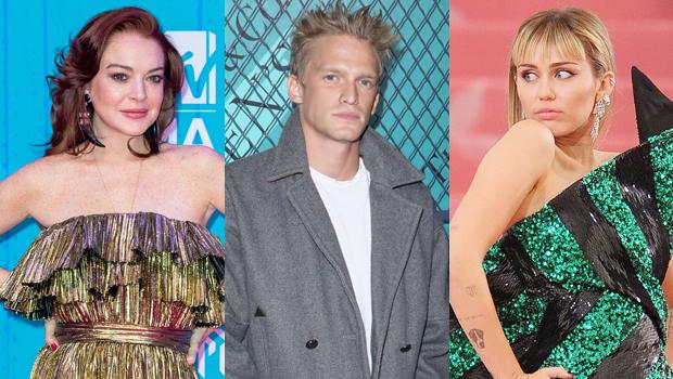Lindsay Lohan Cody Simpson Miley Cyrus