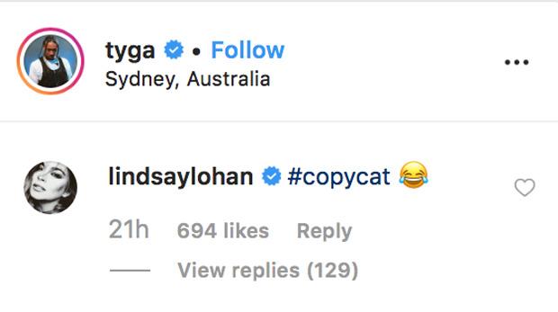 Lindsay Lohan, Tyga