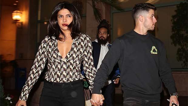 Nick Jonas Priyanka Chopra Hold Hands Date Dinner Pics