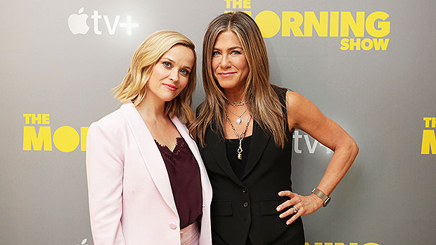 Reese Witherspoon & Jennifer Aniston promoting 'Morning Show'
