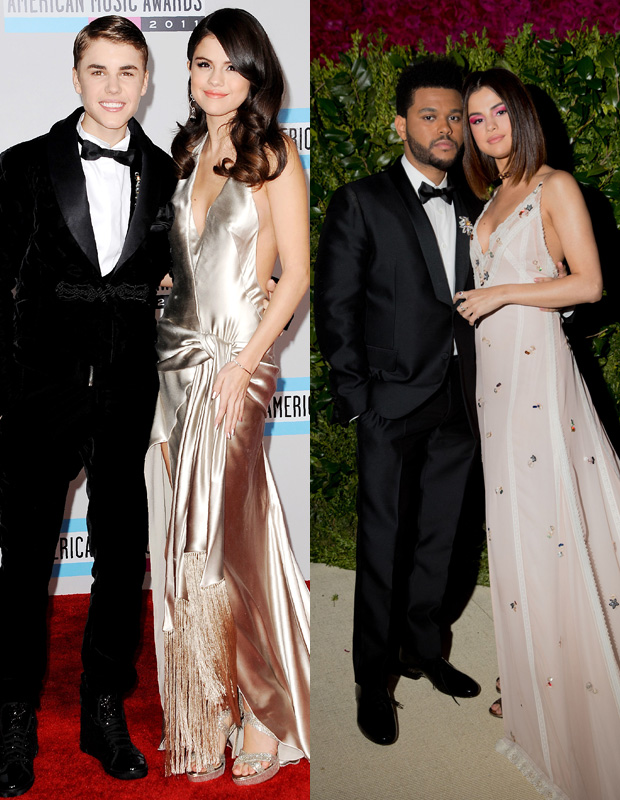 Selena Gomez, Justin Bieber, The Weeknd