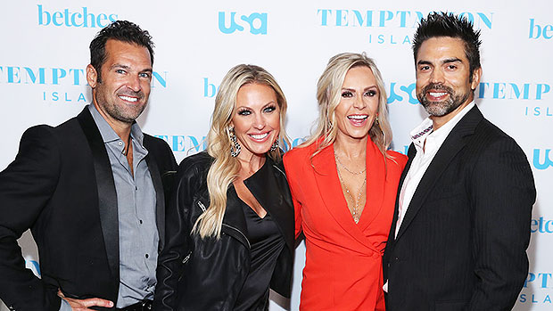 Tamra Judge & Braunwyn-Windham-Burke with their husbands at the premiere of 'Temptation Island