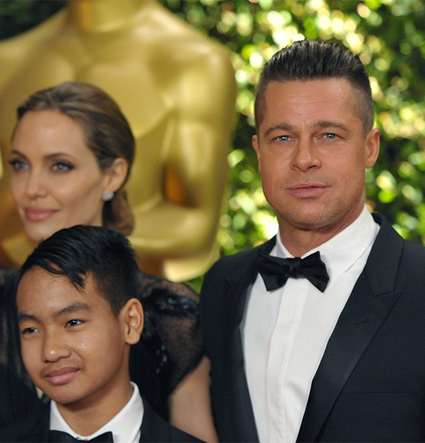 Brad Pitt & Angelina Jolie with son Maddox
