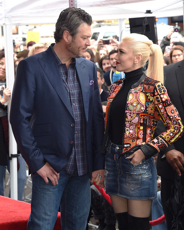 gwen stefani blake shelton gaze at one another
