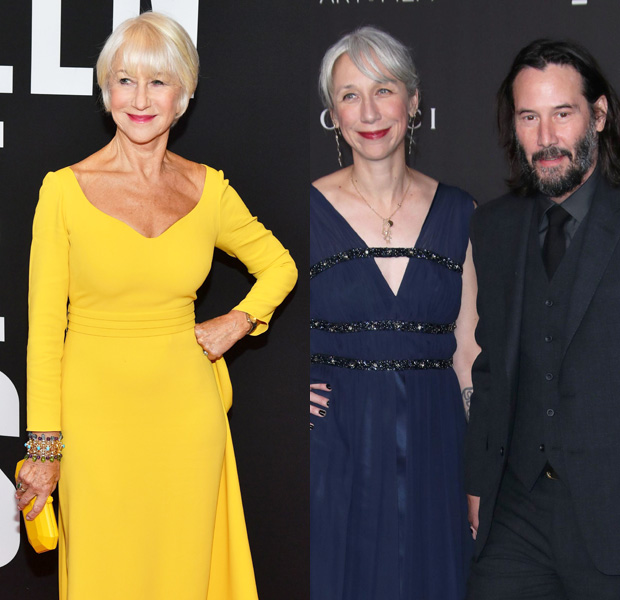 Helen Mirren, Alexandra Grant and Keanu Reeves
