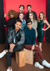 Joshua Bassett & The Cast of 'High School Musical: The Musical: The Series' visit HollywoodLife's NYC studio ahead of the show's Disney+ premiere.